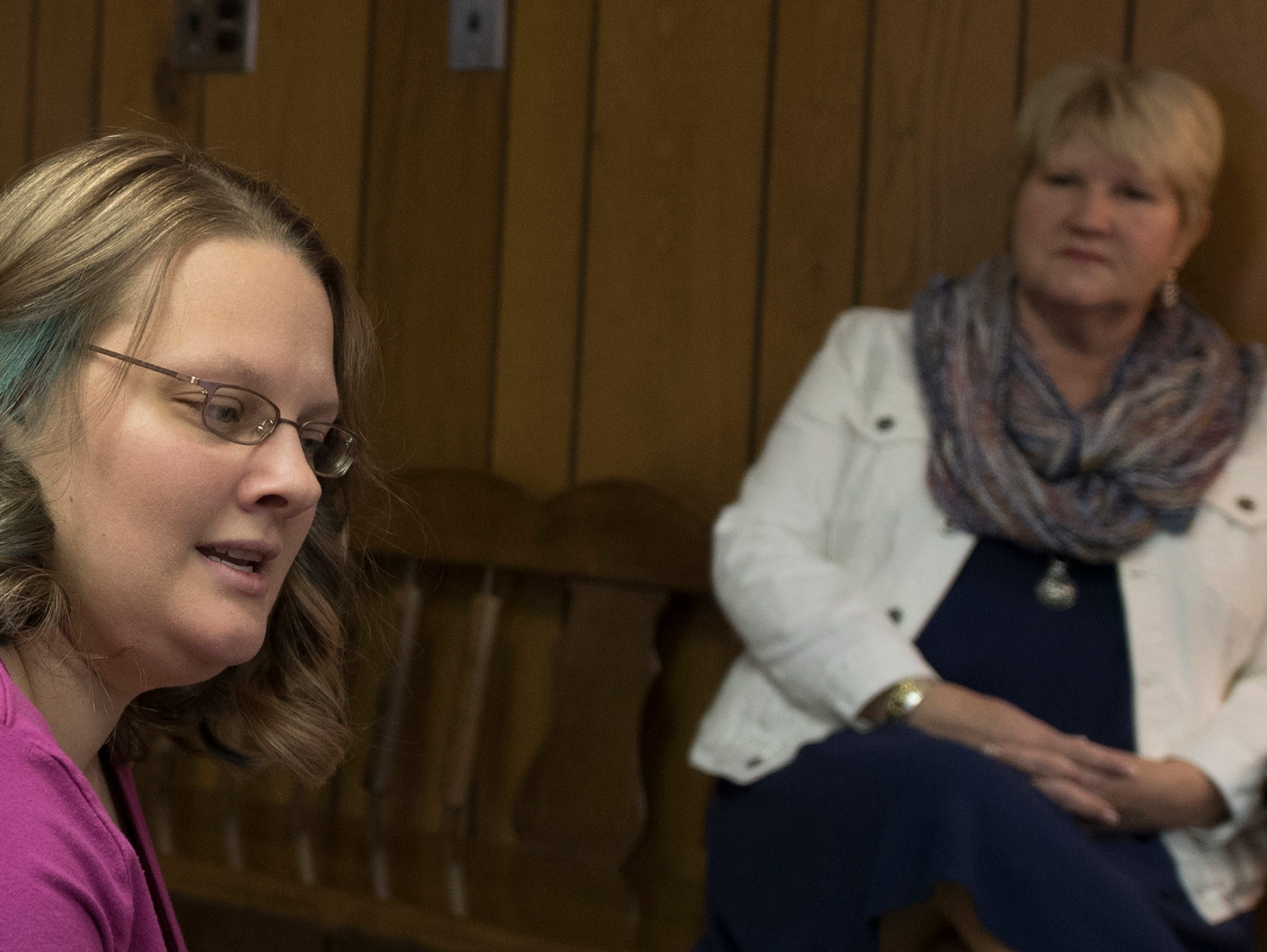 Destini Boxall, left, is enrolled in the Frankiln Count