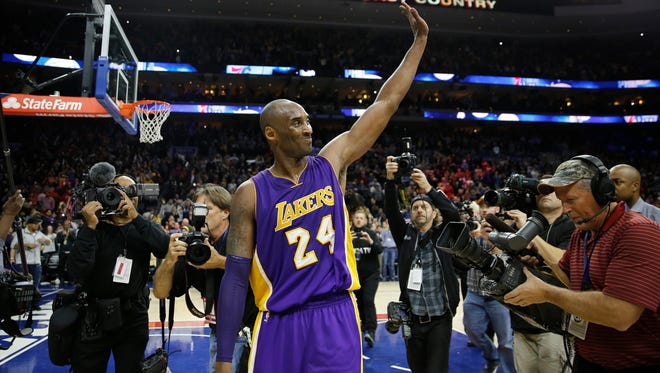 Los Angeles Lakers' Kobe Bryant is on his farewell tour.