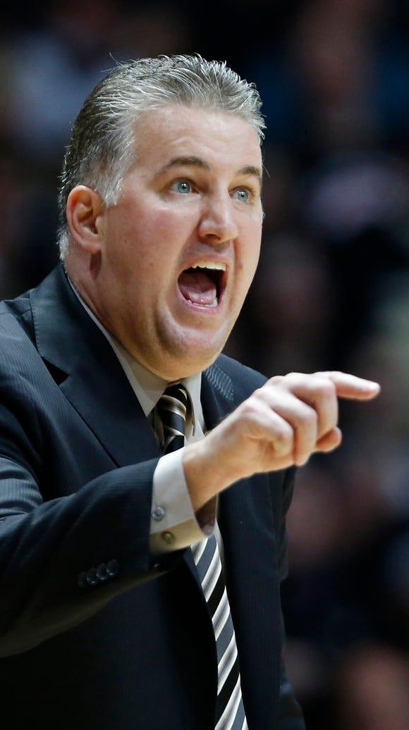 Purdue head coach Matt Painter shouts instructions