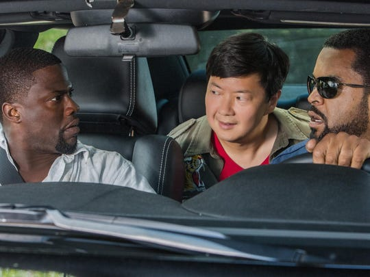 """Kevin Hart, from left, Ken Jeong and Ice Cube star in """"Ride Along 2."""""""