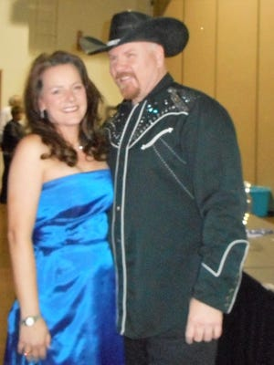 Susan Kolb and Brian Scott, Entertainers and Masters of Ceremonies for COPE's benefit Saturday.