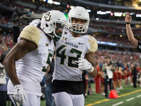Baylor Bears wide receiver Antwan Goodley (5) and wide
