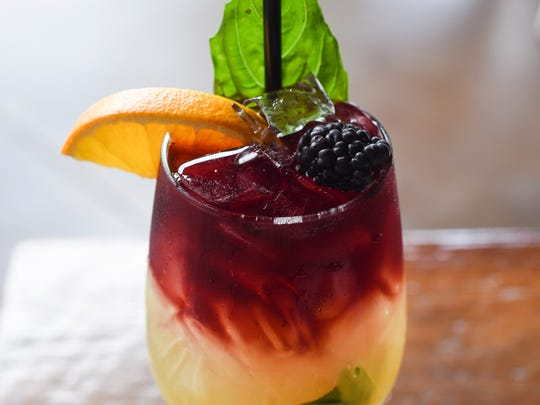 The pub's signature sangria cocktail, Salt of the Earth,
