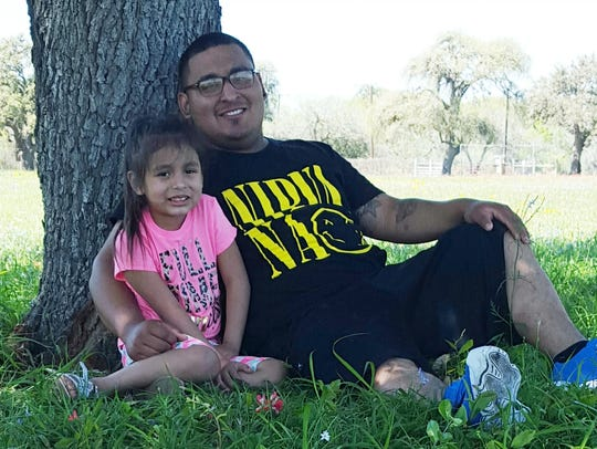 Gilbert Sierra III is pictured with his daughter Alora