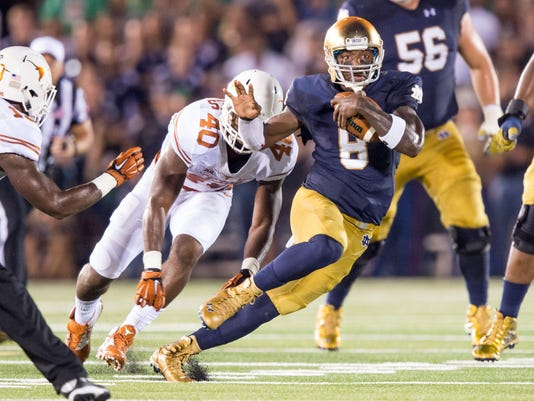 NCAA Football: Texas at Notre Dame