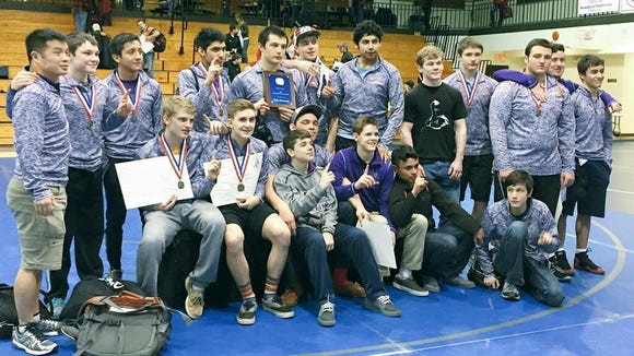The North Henderson wrestling team won Saturday's Western North Carolina Athletic Conference tournament at Brevard.