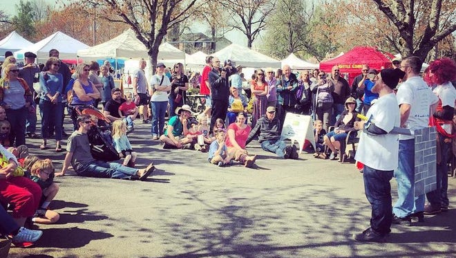 Catch Shakespeare at the Market during the month of April at the Salem Saturday Market.