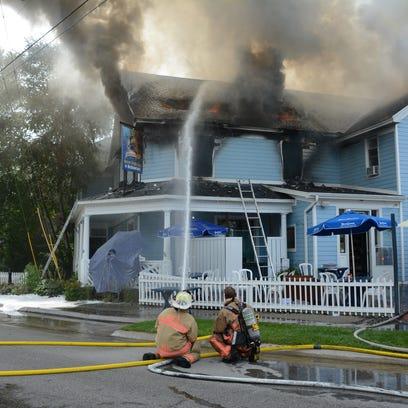 Shipwrecked Brew Pub fire closes State 42 in Egg Harbor