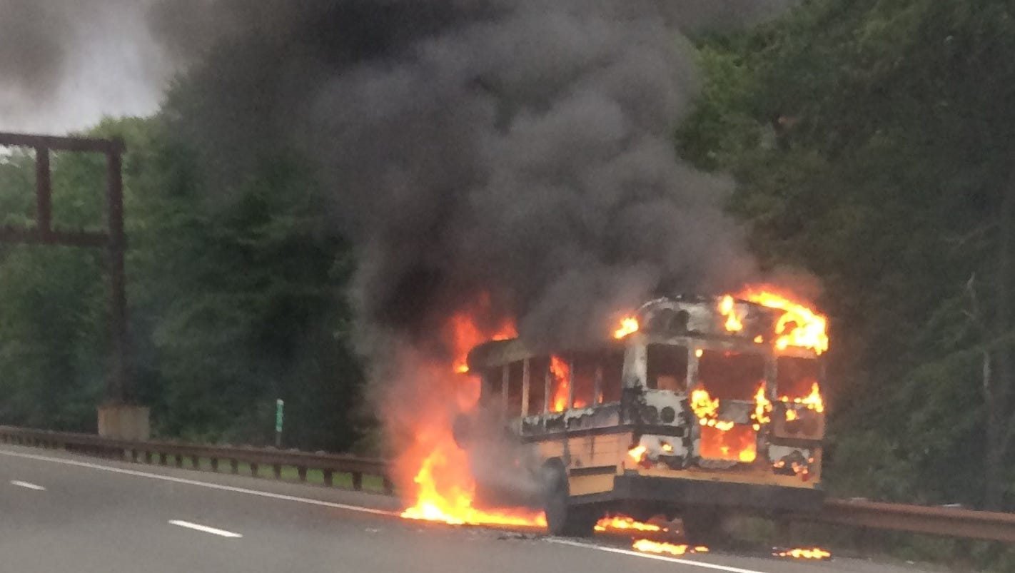 Bus Fire Slows Traffic On Garden State Parkway Near Asbury