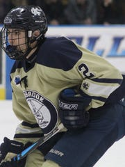 Junior defenseman Blake Salesan and his Cranbrook Kingswood teammates are headed to the D-1 quarterfinal for a rematch with top-ranked Catholic Central.