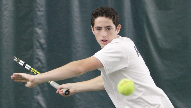 The 2016 Journal News/lohud.com Rockland boys tennis player of the year, Clarkstown North's Ethan Jacobs, pictured here at the West Rock Indoor Sports & Entertainment Complex in Nanuet.