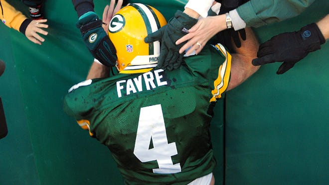 Green Bay Packers quarterback Brett Favre during a 2006 game at Lambeau Field.