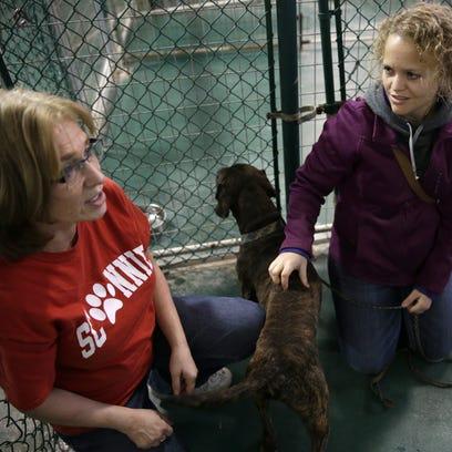 Deb Josephs, left, a volunteer with Chances Animal
