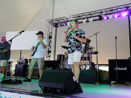 A band performs at Lakeshore Weekend at south pier