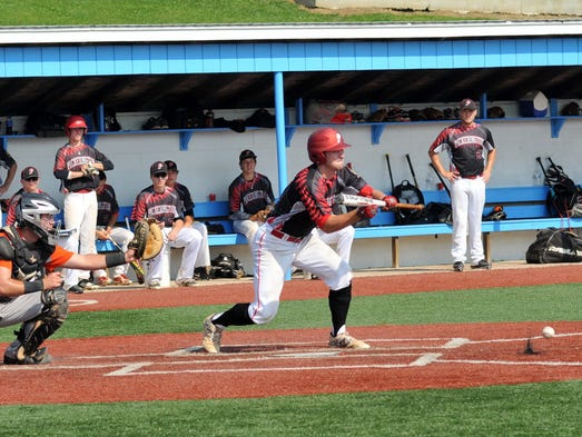 Pickerington Post 283 played in a an elimination game Friday morning at Beavers Field.