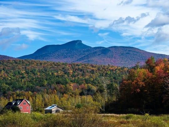Camel's Hump seen from the Hinesburg Hollow Road in