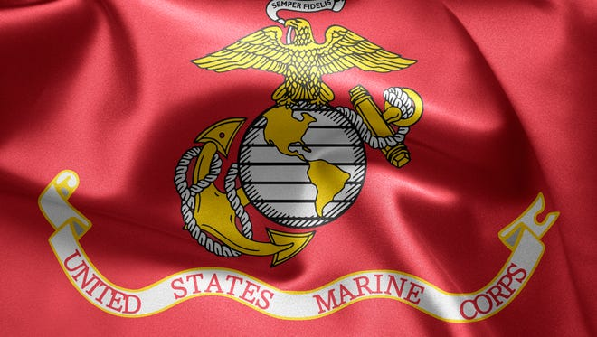 Stock photo of the flag of the United States Marine Corps.