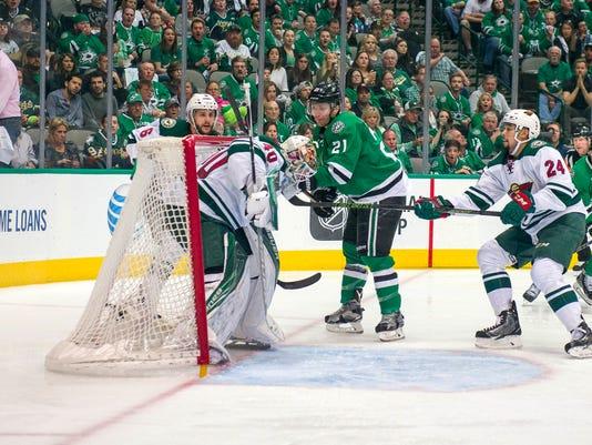 USP NHL: STANLEY CUP PLAYOFFS-MINNESOTA WILD AT DA S HKN USA TX