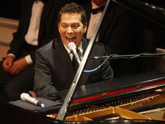Michael Feinstein, founder of the Great American Songbook Foundation, performs in 2012 in Carmel, before helping judge the annual competition of young artists sponsored by the foundation.