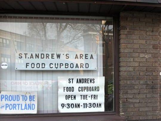 St. Andrew's Area Food Cupboard on Portland Avenue.