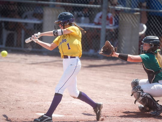 Waukee's Delaney Taylor is one of two 2019 Drake signees competing at the state softball tournament in Fort Dodge.