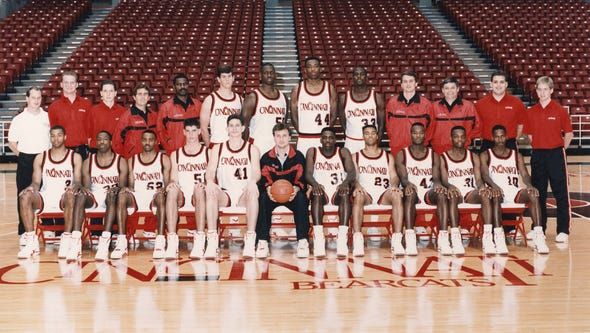 MARCH 1992: University of Cincinnati Bearcats Back