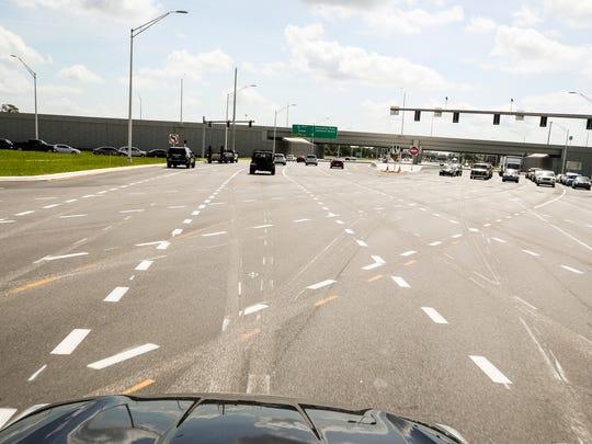 The diverging diamond intersection in Sarasota, Florida,