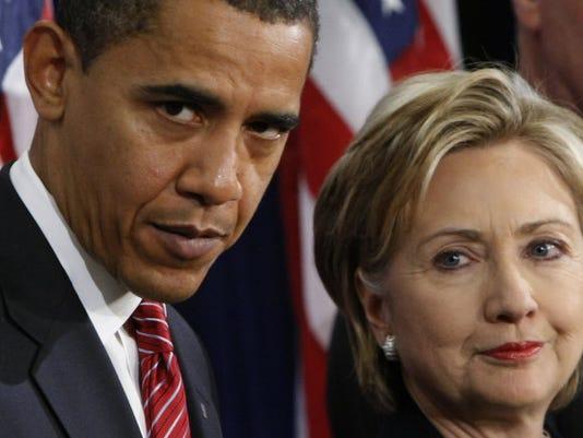 Hillary Clinton obama ile ilgili görsel sonucu