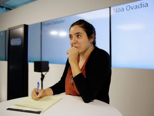 Noa Ovadia prepares for her debate against the IBM