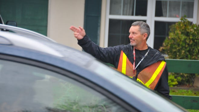 The day after Port Malabar Elementary School PE teacher Mark Peters was named Teacher of the Year, he was at school an hour before school started, made his rounds, helped kids cross the street safely then set up his PE  class in the school commons area due to rain.