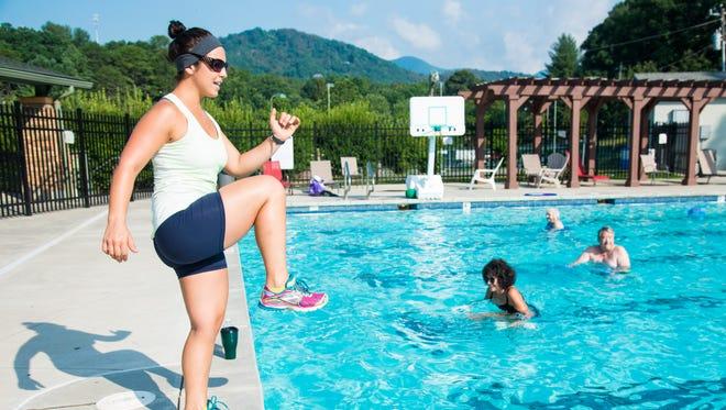 Rachel Blattner leads an aqua-cise class at Black Mountain Pool in this 2015 photo.