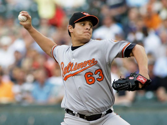 As a rookie with the Baltimore Orioles, David Hernandez