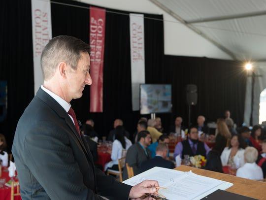 College of the Desert Joel Kinnamon delivers the inaugural
