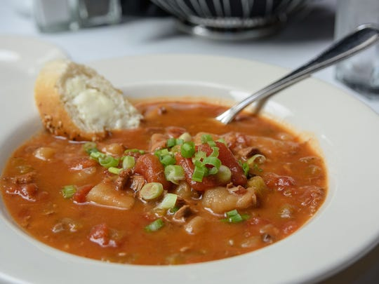 The seasonal Manhattan clam chowder served at Z's Oyster Bar & Steakhouse at 101 Whittington Parkway near Hurstbourne Lane and Shelbyville Road. June 29, 2016