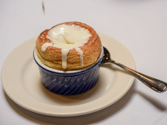 The Grand Mariner Souffle at Z's Oyster Bar & Steakhouse at 101 Whittington Parkway near Hurstbourne Lane and Shelbyville Road. June 29, 2016