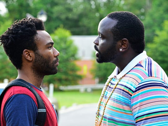"""Donald Glover (left) as Earnest """"Earn"""" Marks and Brian Tyree Henry as Alfred """"Paper Boi"""" Miles in FX's 'Atlanta.'"""