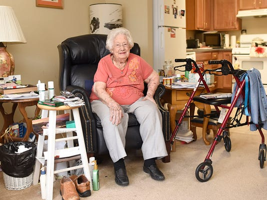 MTO 99 year old -- fern in her apartment