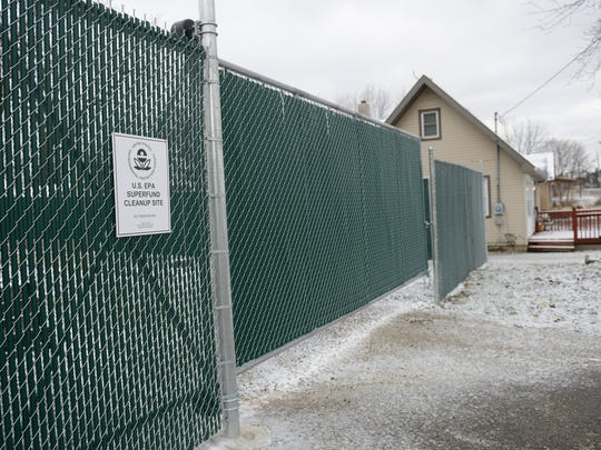 A U.S. EPA Superfund Cleanup Site pictured on Thursday,