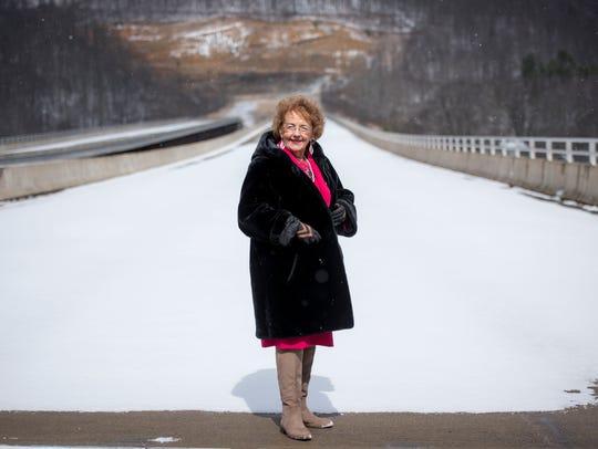 The bridge named for Christine West has sat unused