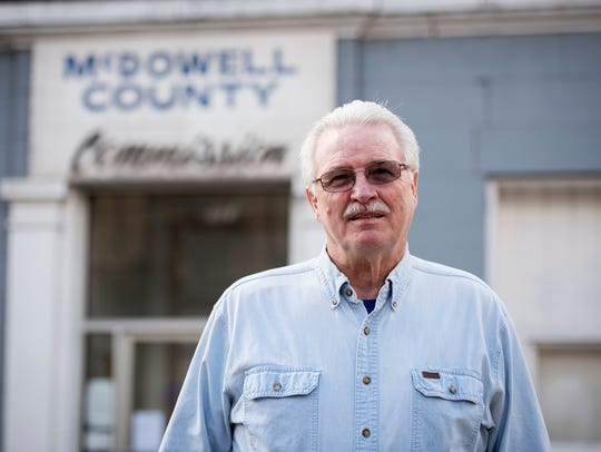 Gordon Lambert, a member of the McDowell County commission