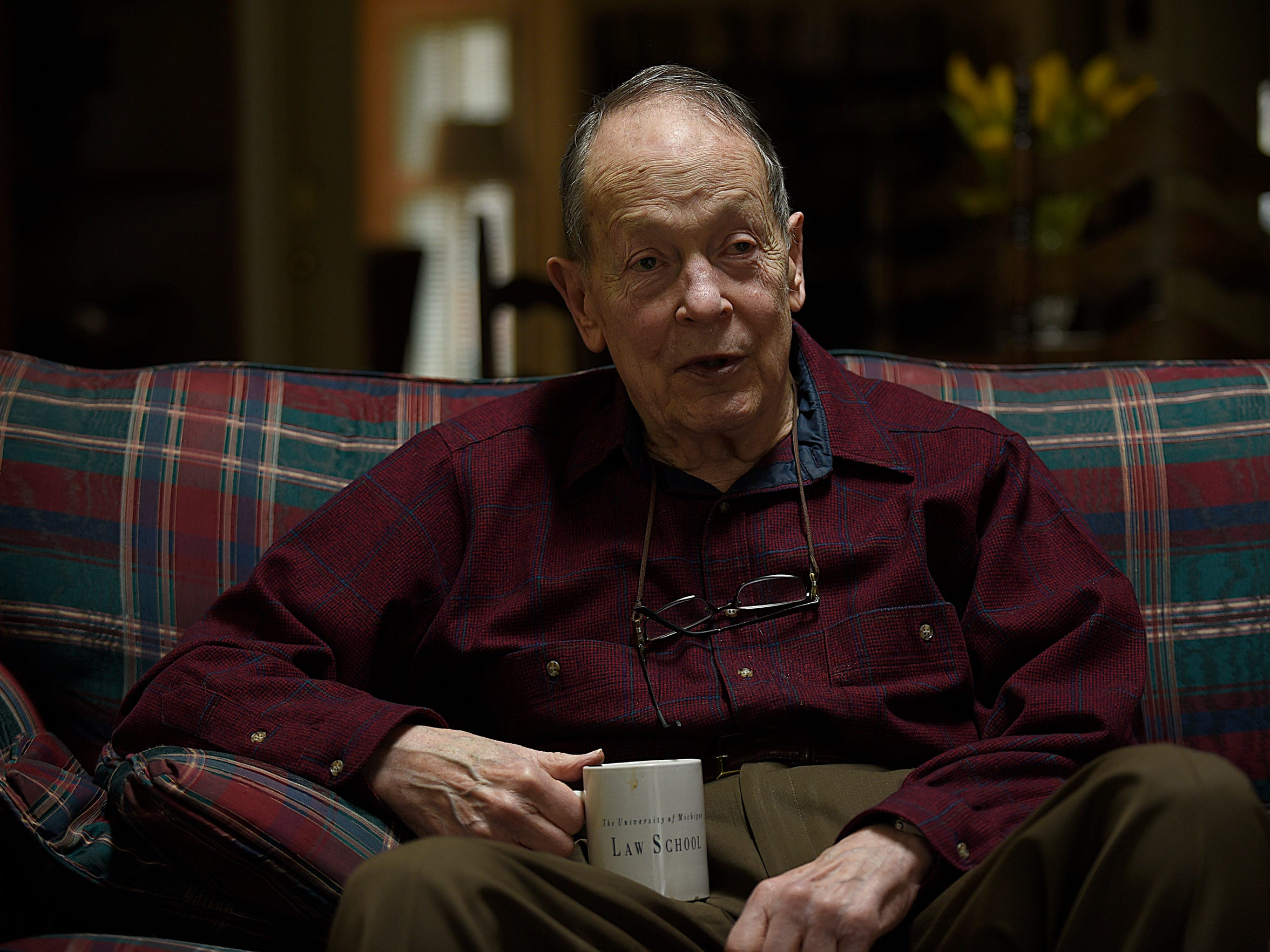 Barry King, 86, at his home in Birmingham. He doubts