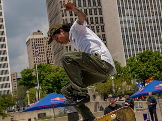 Red Bull's Hart Lines, a skateboarding event, returned to Detroit's Hart Plaza May 13, 2017.