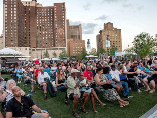 Beacon Park in Detroit celebrated its grand opening
