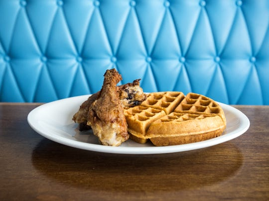 The dark meat heirloom fried chicken with the cracklin