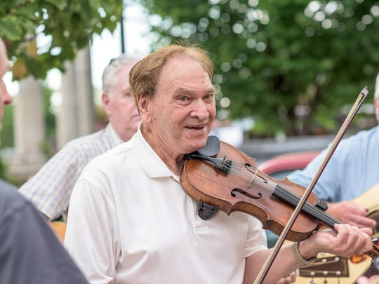 Recognized by his students as one of the most beloved fiddle teachers in Western North Carolina, Arvile Freeman continues to perform and teach regularly at 83 years of age.