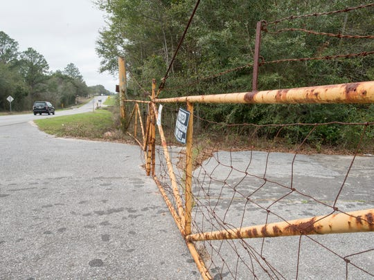 Entrance to 2170 Longleaf Drive in Pensacola on Wednesday,