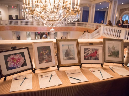 Five of Second Lady Karen Pence's watercolor paintings