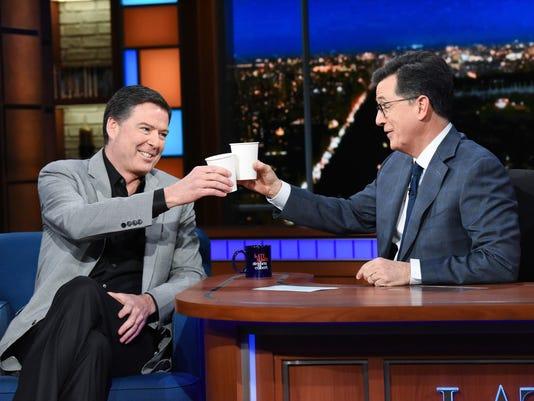 James Comey Stephen Colbert