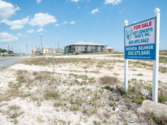 Land for sale in Perdido Key on May 7, 2018.  As Perdido