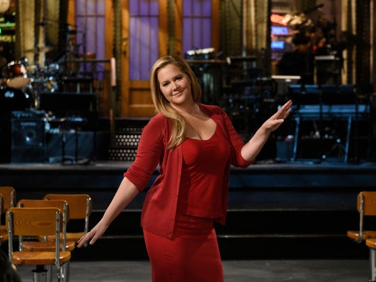 "Amy Schumer during a promo for ""Saturday Night Live."""